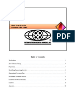 MPAA - Best Practices to Prevent Film Theft