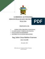 TDR Reingeniería Institucional