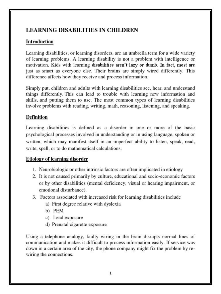 learning disabilities | learning disability | psychotherapy