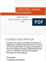 Signals, Spectra, Signal Processing Intro
