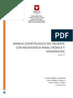 Manejo Del Paciente Con IRC y Hemodiálisis