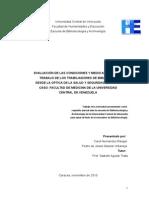 Evaluacion de Las Condiciones y Medio Ambiente