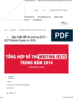 IELTS Writing 2014 Collection