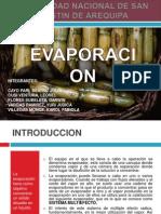 Diapositivas de Evaporacion