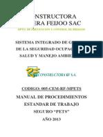 PETS-Procedimiento Escrito de Trabajo Seguro - 2013 RF-UTP