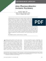 Pharmacocinetics Geriatric