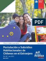 Subsidios Habitacionales Para Chilenos en El Extranjero1