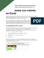 Funciones Contar y Sumar Por Color en Hoja de Excel
