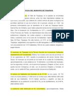 Caracterización Del Municipio de Tiquipaya