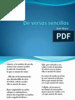 De Versos Sencillos (Clase Lenguaje)