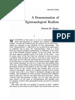 F.H. Parker - A Demonstration of Epistemological Realism