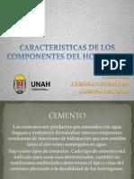 CARACTERISTICAS DE LOS COMPONENTES DEL HORMIGON.pptx