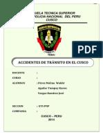 Monografia de Accidentes de Tránsito en El Cusco