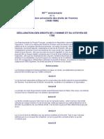 3.0) Déclaration Des Droits de l'Homme Et Du Citoyen de 1789