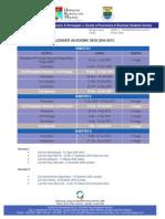 Kalender Akademik 2009-2010