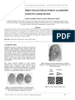 Efficient Fingerprint Image Enhancement Algorithm Based on Gabor Filter