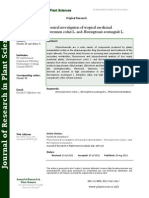 Phytochemical Investigation of Tropical Medicinal Plants - Stereospermum Colais L. and Barringtonia Acutangula L.