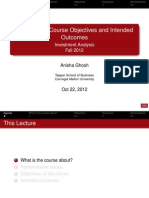 Course Outline to Investment Analysis-Series 1