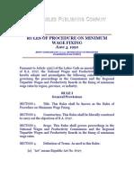 Rules of Procedure on Minimum Wage Fixing, June 4, 1990. Revised Rules of Procedure on Minimum Wage Fixing, November 29, 1995