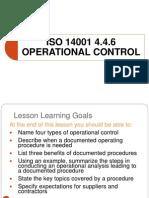 Operational Control Procedure