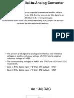 1 Bit Digital to Analog Converter