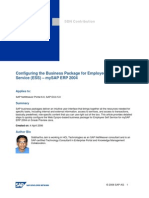 Configuring the Business Package for Employee Self Service Mysap Erp 2004.Doc