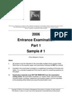 CMA CPA 2006 Mock Exams