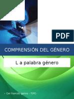 COMPRENSIÓN DEL GÉNERO
