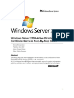 Windows Server 2008 Active Directory Certificate Services Step-By-Step Guide