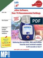 Use FastPrep-24 5G Instrument for Your Biological Sample Preparation Needs