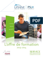 Offre de Formation 2014 Dauphine