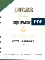 CE648 - Lucas Quality Equipment Land Rover 1950