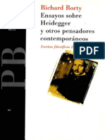115409505 Rorty Ensayos Sobre Heidegger