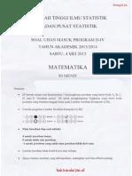 Soal USM STIS 2013