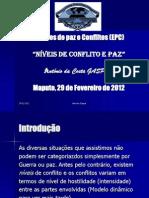 Niveis de Conflito e Paz 2012