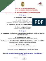 1ª JORNADAS DE LA CONMEMORACIÓN DELV CENTENARIO DE LA PRIMERA CIRCUNNAVEGACIÓN