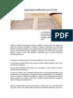 Sobre a Unidade Cristão Judaica e Conversão Pagã Gestão Espiritual Unificante Em Cristo