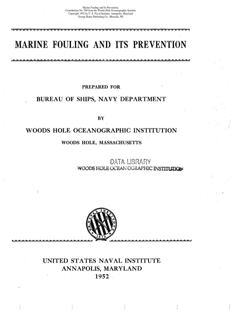 Marine Fouling And Its Prevention Woods Hole Oceanagraphic 1952 Meter An Alternative Circuit The Primary Consists Of A Brassplates Ships Pipe Fluid Conveyance