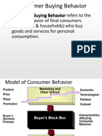 Factors Influencing Consumer Behaviour