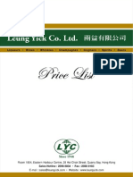 Leung Yick Price List (1 July 2014)