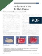 109 Surgery Platelet Rich Plasma