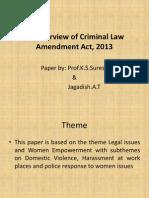 Criminal Law Amendment 2013
