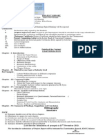 KSOU Project Report Format for IV Semester MBA Students