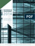 2014 Business-Management CAT
