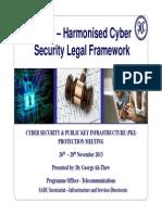 SADC Harmoniosed Cyber Security Legal Framework - COMESA WOrkshop