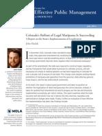 Brookings Report on Colorado Marijuana Rollout