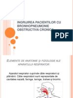 Ingrijirea Pacientilor Cu Bronhopneumonie Obstructiva Cronica