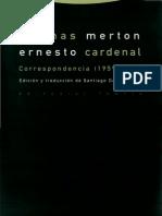 Merton Thomas - Correspondencia Con Ernesto Cardenal