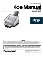 Panasonic Panafax DX600 800 Service Manual