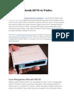 Cara Setting Mikrotik RB750 via WinBox